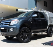 FORD RANGER WITH BLACK RHINO ROCKWELL MATTE BLACK 2