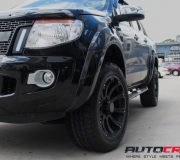 FORD RANGER WITH BLACK RHINO SIDEWINDER MATTE BLACK 1
