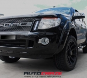 FORD RANGER WITH BLACK RHINO SIDEWINDER MATTE BLACK 01