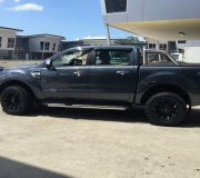 FORD RANGER WITH BLACK RHINO SIDEWINDER MATTE BLACK 2