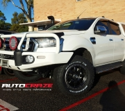 FORD RANGER FUEL TROPHY IN MATTE BLACK WITH ANTRACITE RING