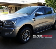 FORD RANGER WITH SSW GRANITE IN SILVER MACHINED FACE
