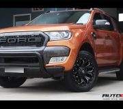 FORD RANGER WITH FUEL ASSAULT BLACK MILLED ACCENTS