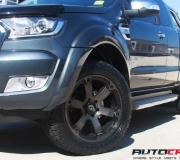 FORD RANGER WITH FUEL BEAST BLACK WITH DARK TINT FINISH-1