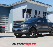 FORD RANGER WITH FUEL BEAST BLACK WITH DARK TINT FINISH