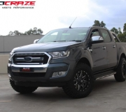 FORD RANGER WITH FUEL MAVERICK GLOSS BLACK WITH MILLED ACCENTS